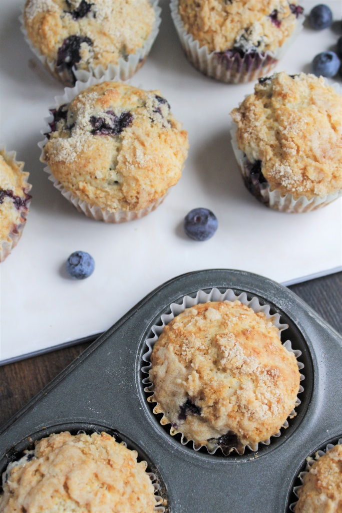 Blueberry Streusel Muffins-CD's Country Living
