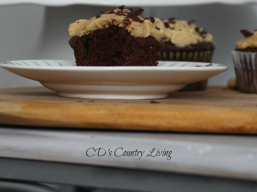Chocolate Cupcakes with Peanut Butter Frosting2