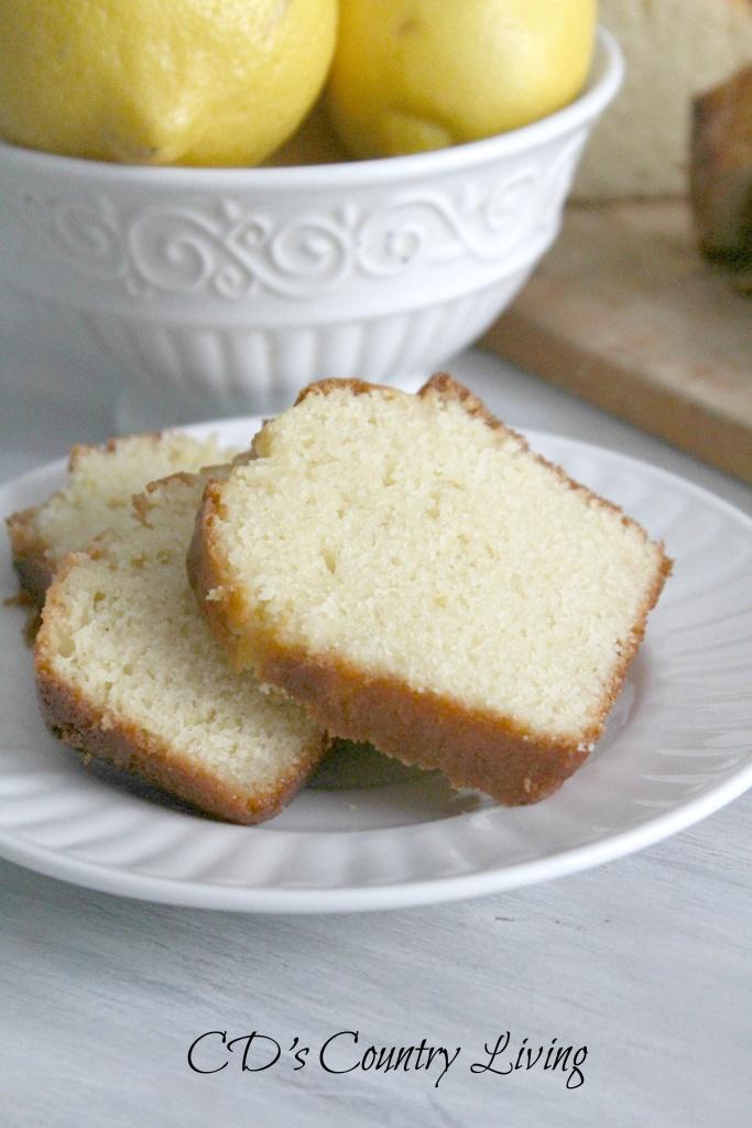 Lemon Bread Sliced