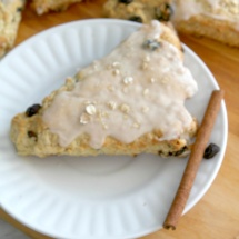 Oatmeal-Raisin Scones with Cinnamon Glaze1