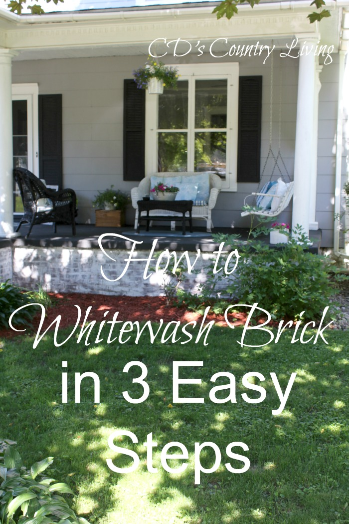 Brick Exterior: How To Whitewash Exterior Brick In 3 Easy Steps