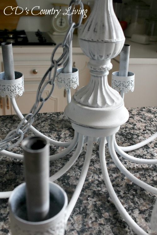 Step Two Chandelier Makeover