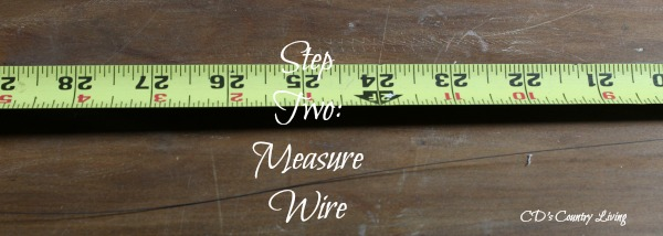 Step Two Measure Wire