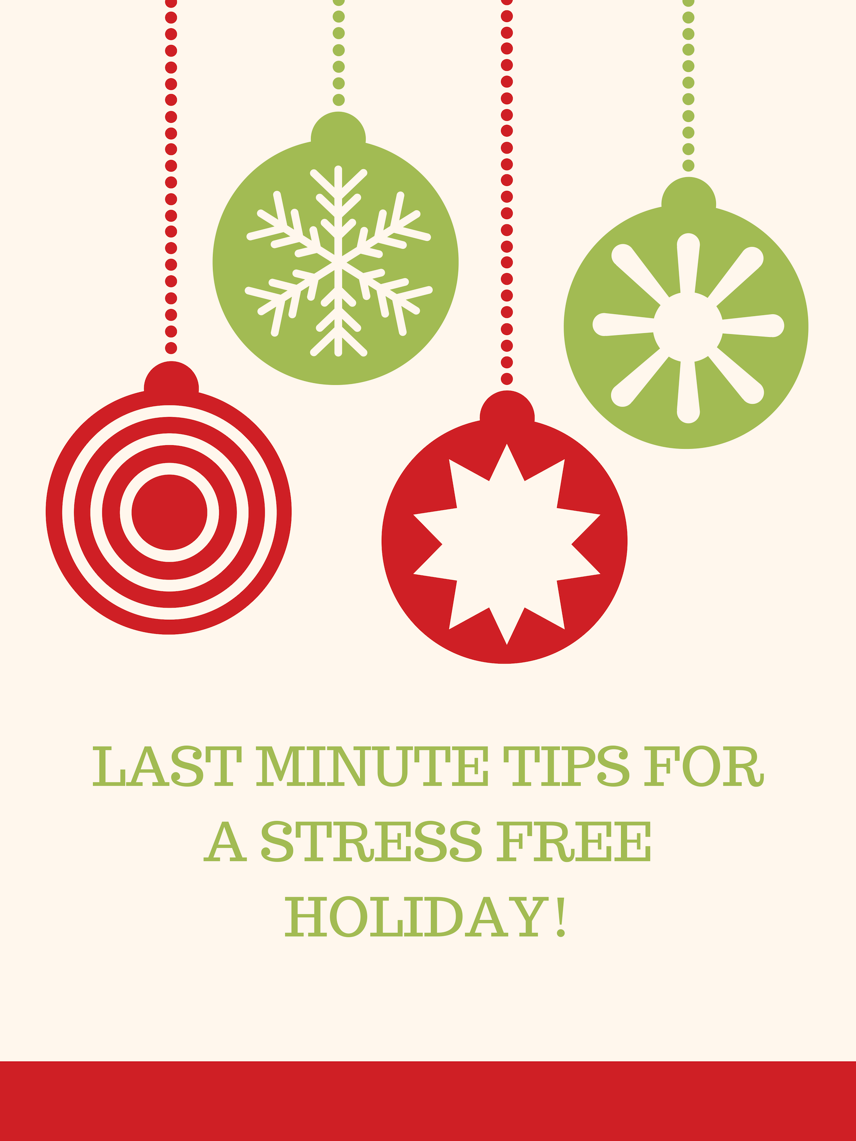 Tips to relieve holiday stress!