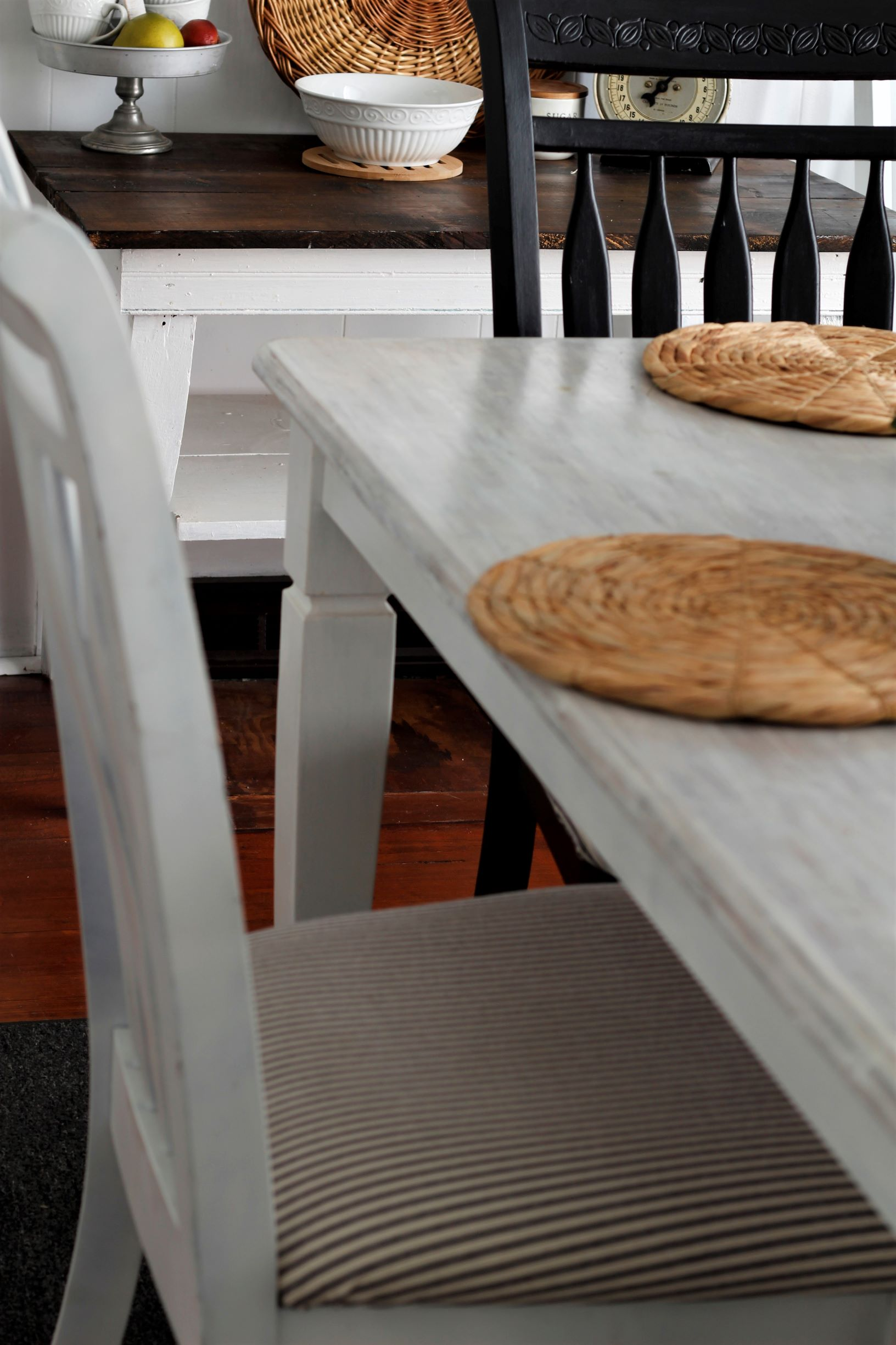 No Sew Dining Room Chair Makeover -
